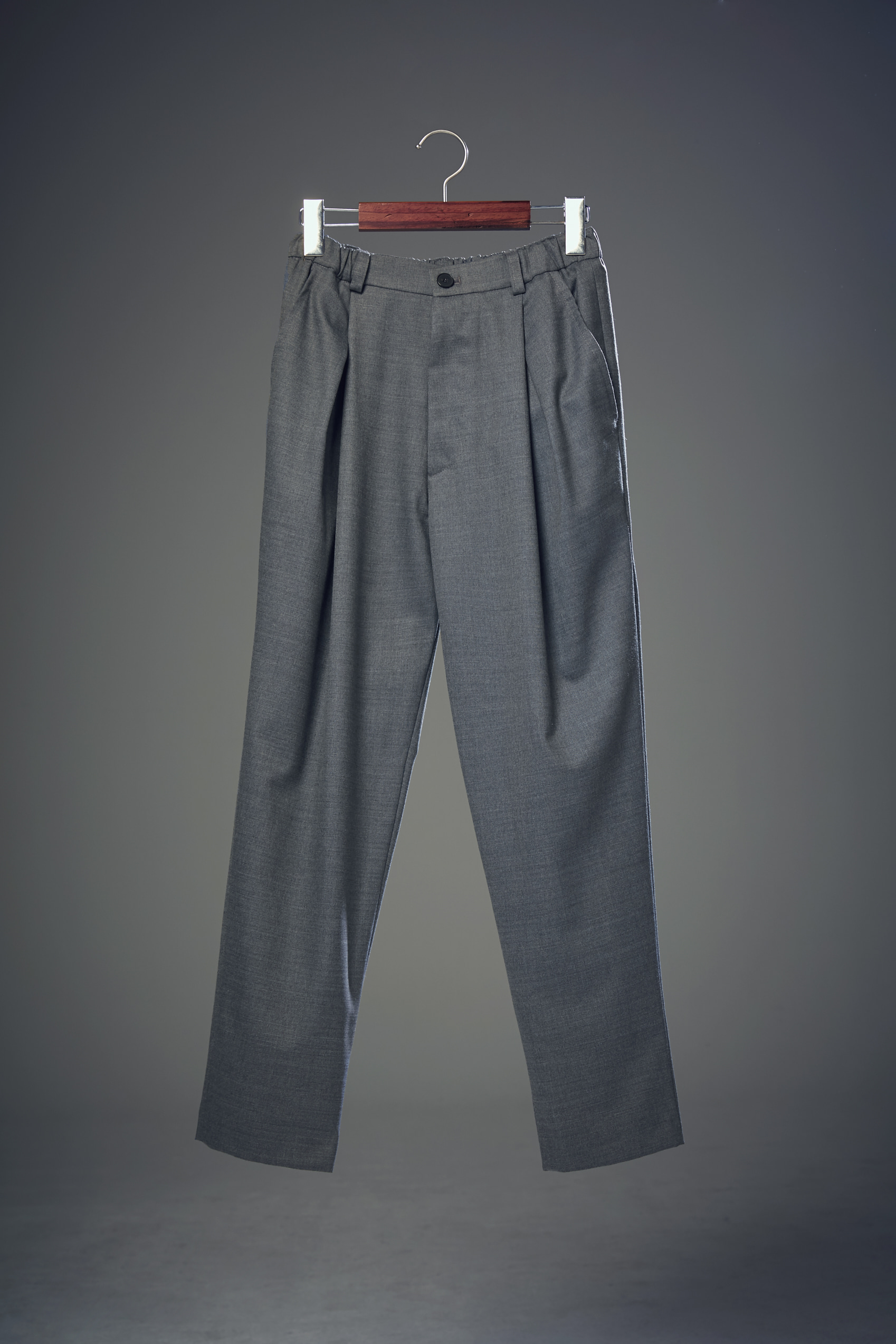 18ss Cross Pleats Pants Light Cool Gray