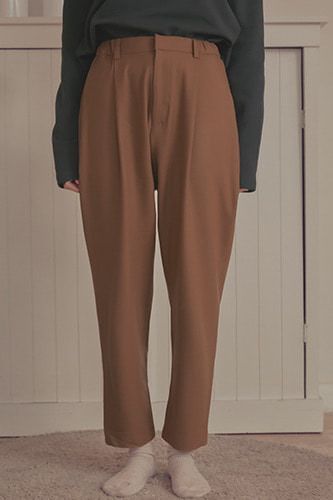 One Pleats Pants Camel