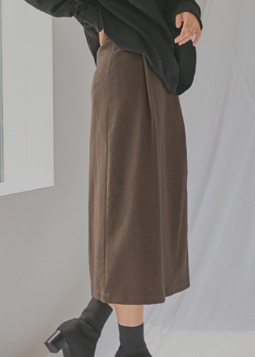 cashmere relaxable skirt brown