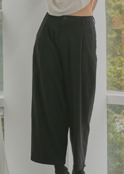 cashmere relaxable wideslack black (남여공용)